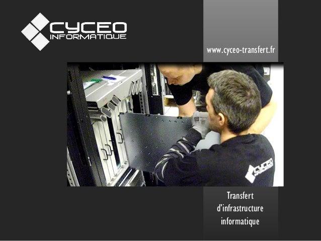 Transfert d'infrastructure informatique  www.cyceo-transfert.fr