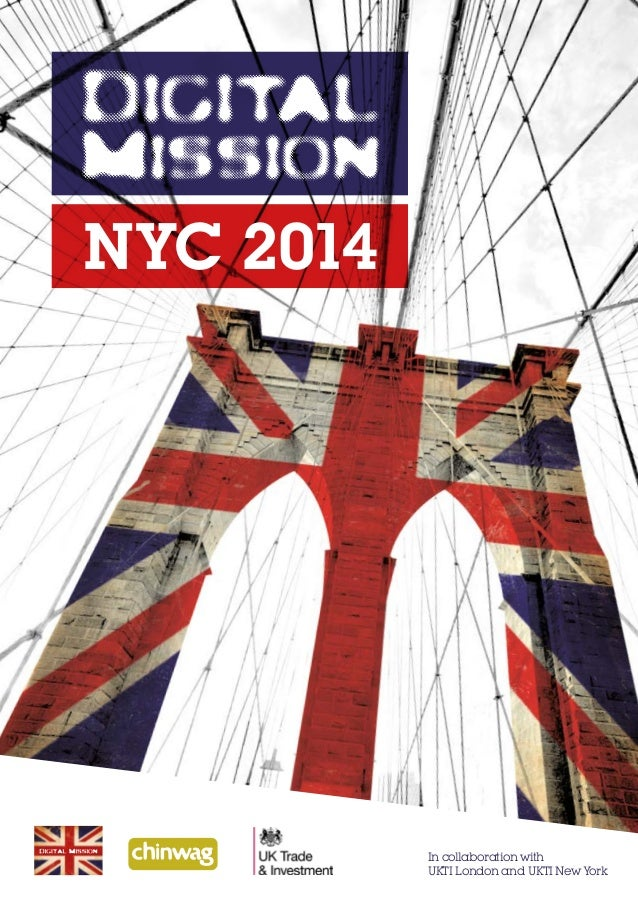 NYC 2014  In collaboration with UKTI London and UKTI New York
