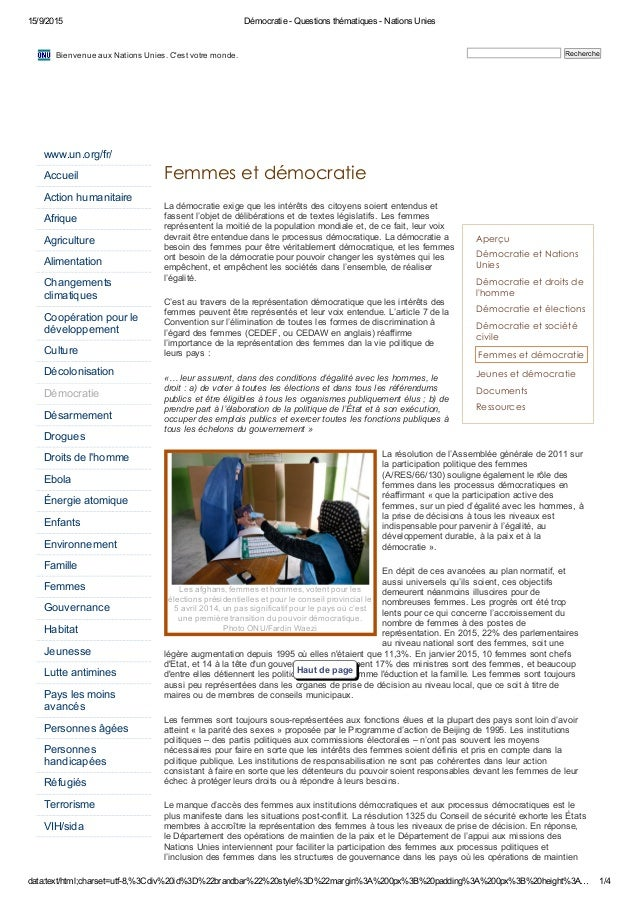 15/9/2015 Démocratie ­ Questions thématiques ­ Nations Unies data:text/html;charset=utf­8,%3Cdiv%20id%3D%22brandbar%22%20s...