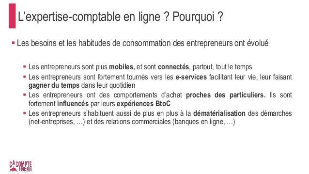 L'expertise-comptable en ligne ? Pourquoi ?  Les besoins et les habitudes de consommation des entrepreneurs ont évolué  ...