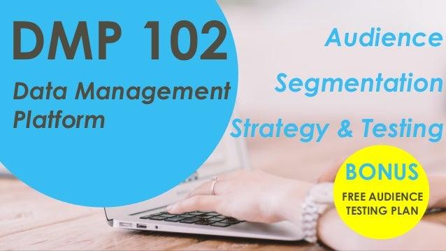 Data Management Platform DMP 102 Audience Segmentation Strategy & Testing FREE AUDIENCE TESTING PLAN BONUS