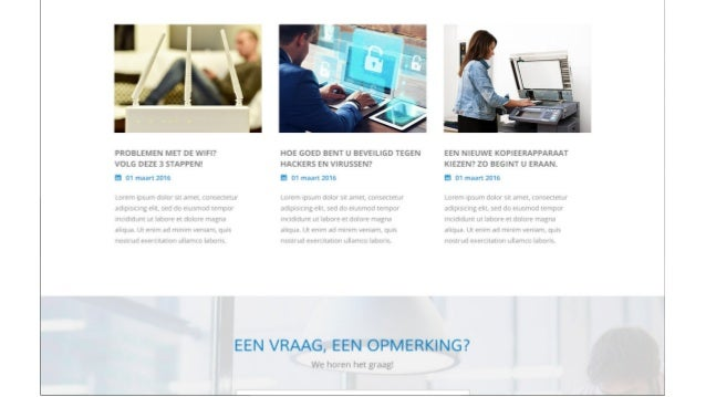 Digitaal marketing plan all buro solutions for Buro solution