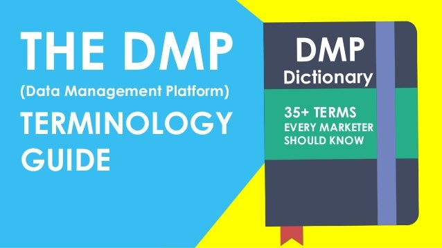 THE DMP(Data Management Platform) TERMINOLOGY GUIDE 35+ TERMS EVERY MARKETER SHOULD KNOW