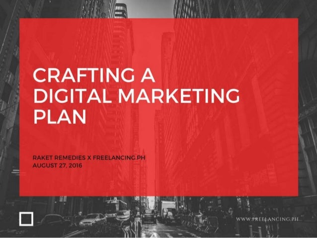 Digital Marketing Plan Outline • Situational Analysis: Where are you now? • Brand Messaging: Who are you talking to? • Goa...