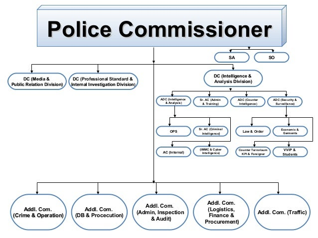 Police Commissioner SA  DC (Media & C Public Relation Division)  SO  DC (Intelligence & Analysis Division)  DC (Profession...