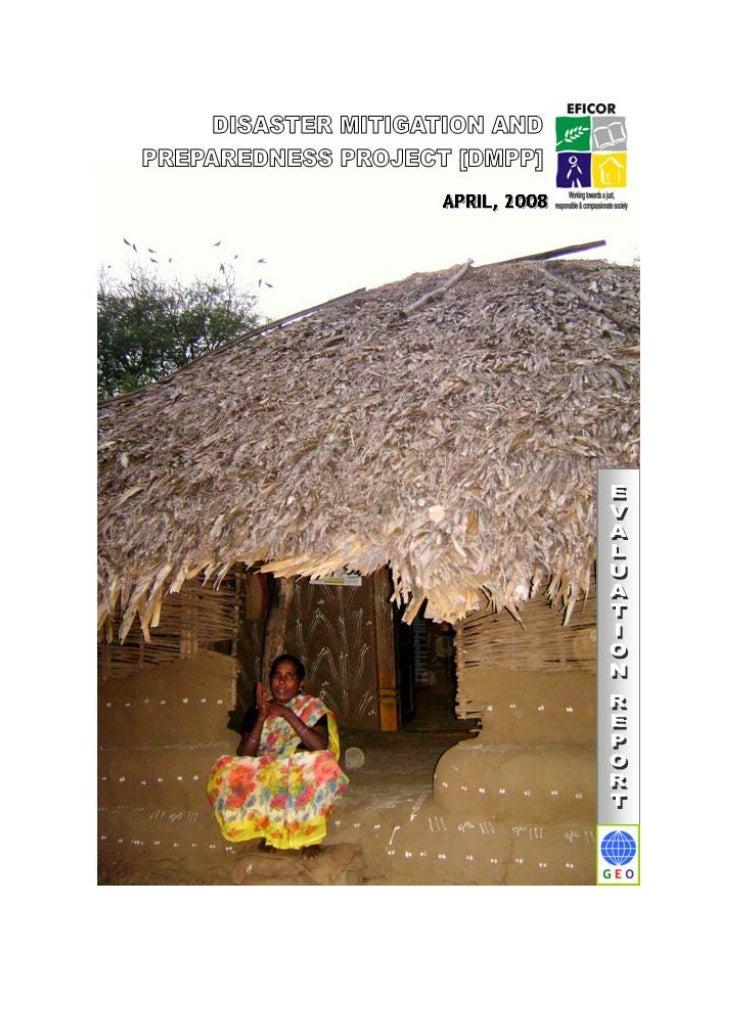 KHAMMAM DISASTER MITIGATION AND PREPAREDNESS PROJECT       EVALUATION REPORT           APRIL 2008