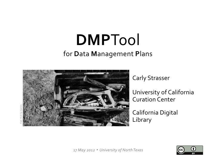 DMPTool                                        for Data Management Plans                                        ...