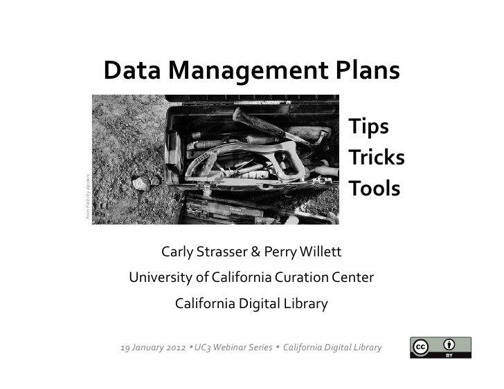 Data Management Plans                                                                                             ...