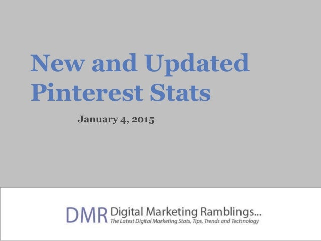 New and Updated Pinterest Stats January 4, 2015