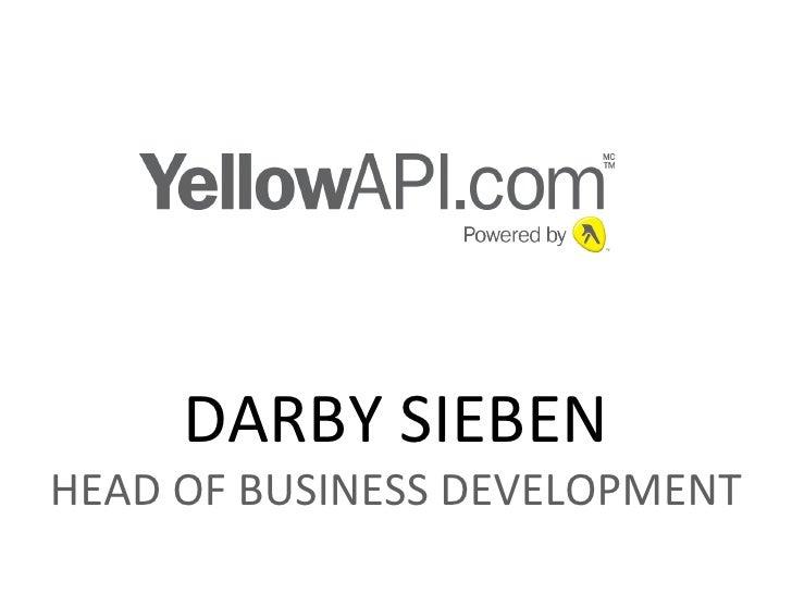 DARBY SIEBEN HEAD OF BUSINESS DEVELOPMENT