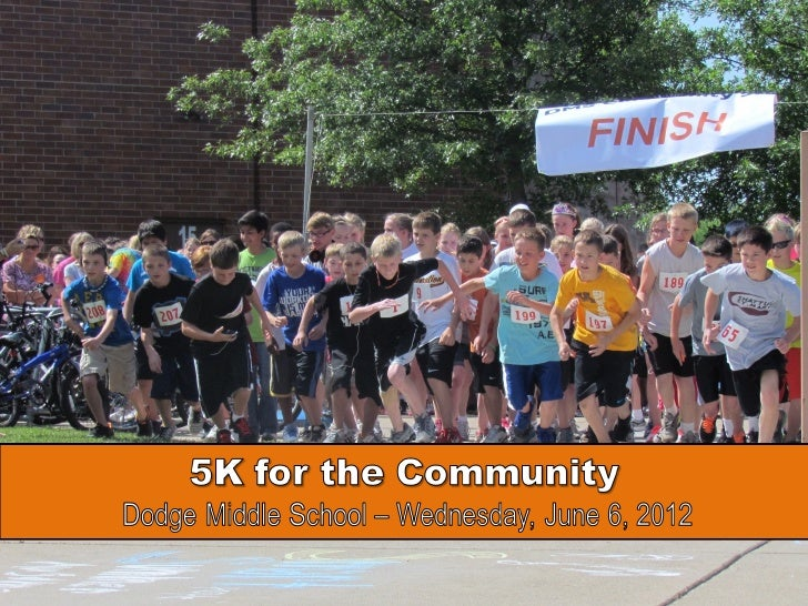 The entire Dodge Sixth Grade listened in to instructions             and got fired up for the 5K