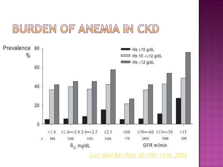 Burden of anemia in CKD<br />Curr Med Res Opin 20:1501-1510, 2004<br />