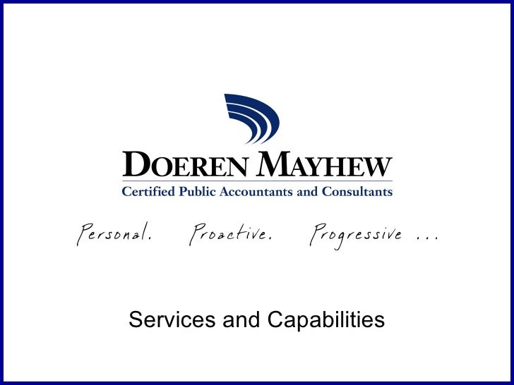 Services and Capabilities