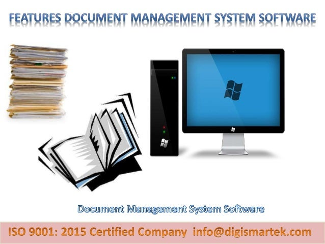 """Document management system is a computer based software used to store, manage and track documents."""
