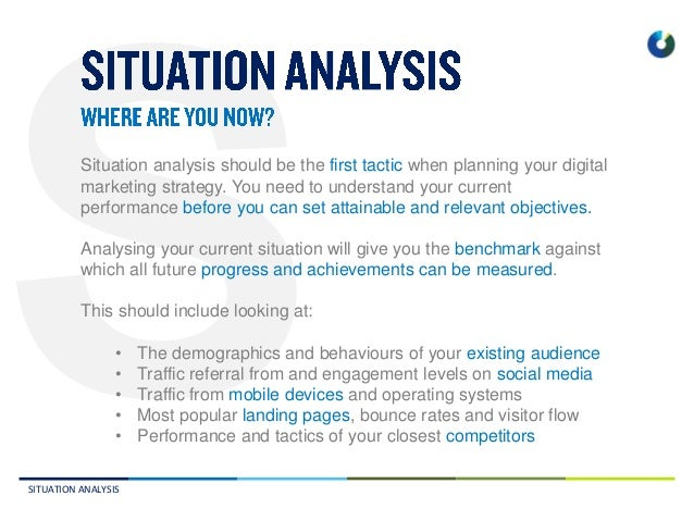 A Situational Analysis of a Strategic Marketing Plan