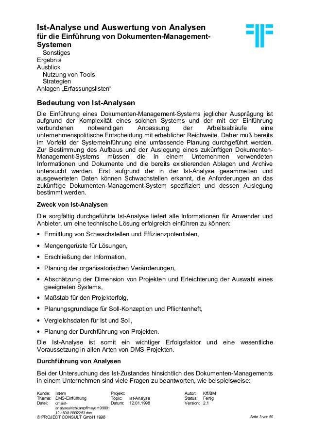 DE] DMS: Ist-Analyse und Auswertung von Analysen | Dr. Ulrich Kampff…