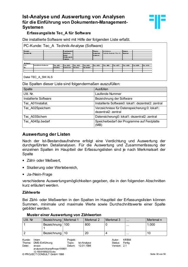 DE] DMS: Ist-Analyse und Auswertung von Analysen   Dr. Ulrich Kampff…