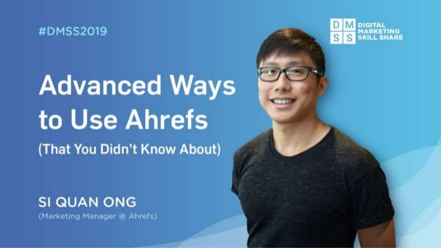 In case you didn't know what Ahrefs is...