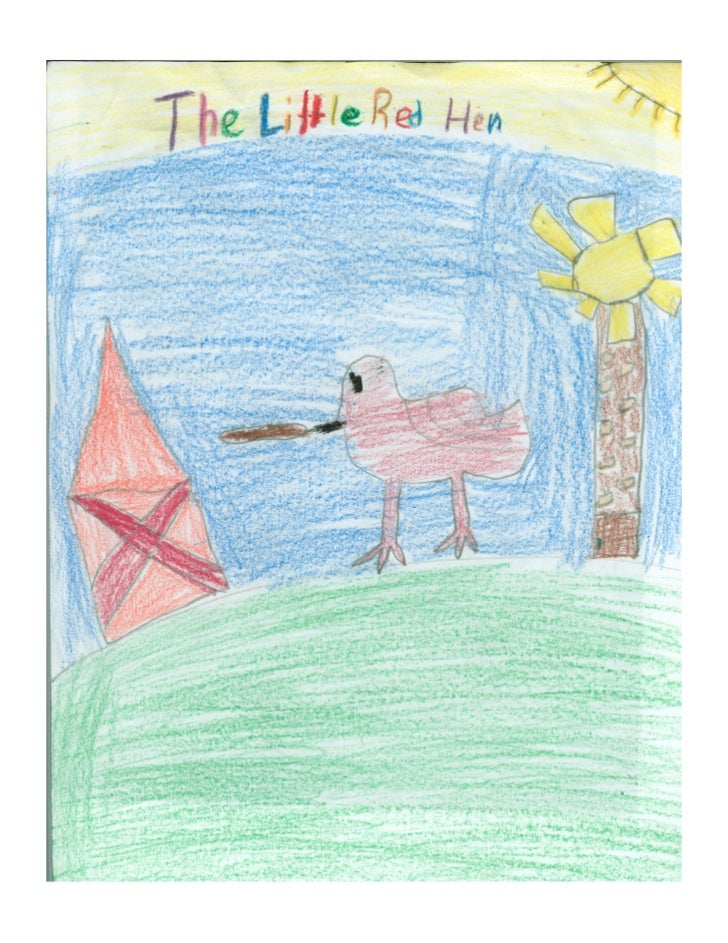 A very long +me ago there was a li3le red hen . One a7ernoon she found a grain of w...