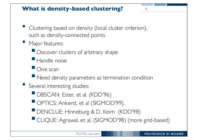 DMTM Lecture 14 Density based clustering