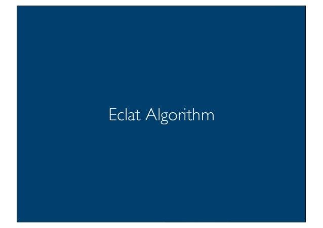 Prof. Pier Luca Lanzi Eclat Algorithm 28