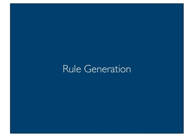 Prof. Pier Luca Lanzi Rule Generation
