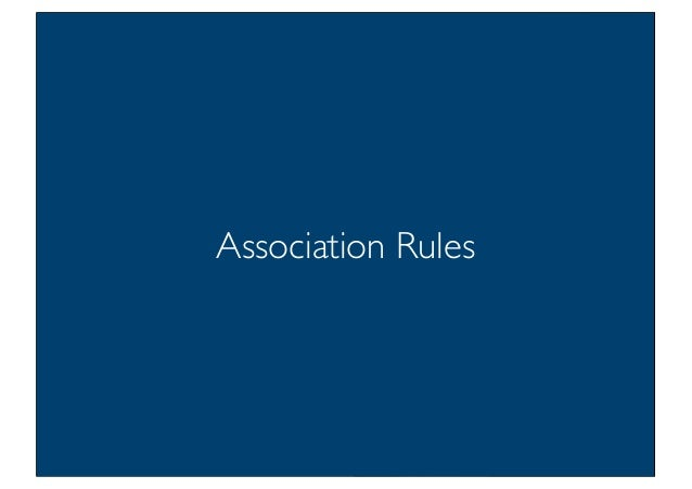 Prof. Pier Luca Lanzi Association Rules 5