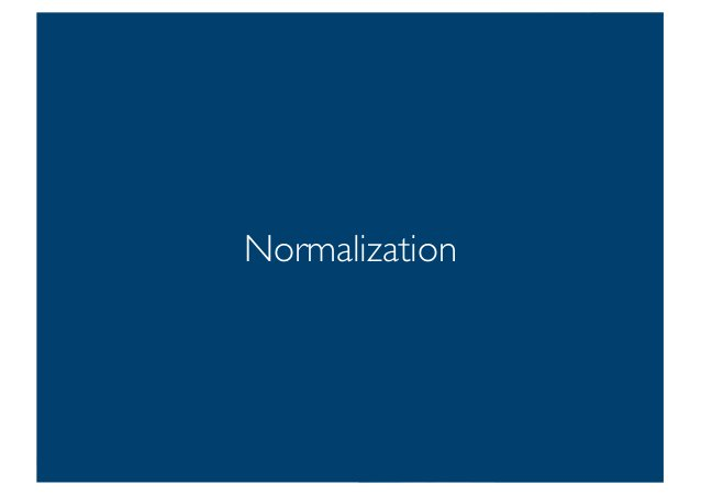 Prof. Pier Luca Lanzi Normalization 20