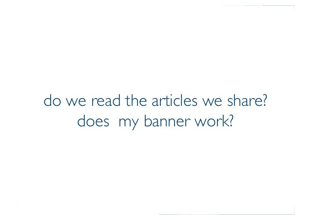 Prof. Pier Luca Lanzi do we read the articles we share? does my banner work?