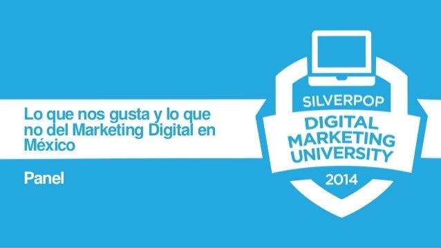 Lo que nos gusta y lo que no del Marketing Digital en México  Panel