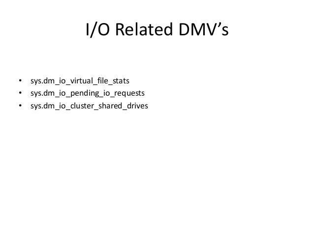 Dmv's & Performance Monitor in SQL Server