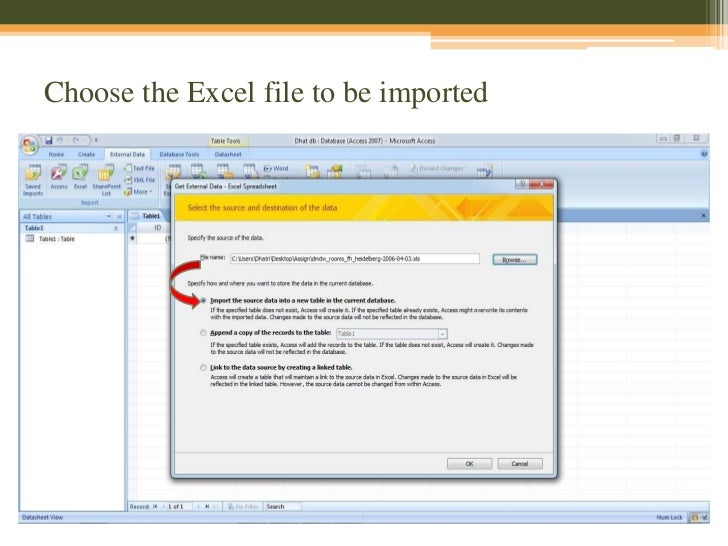 Data Mining with MS Access