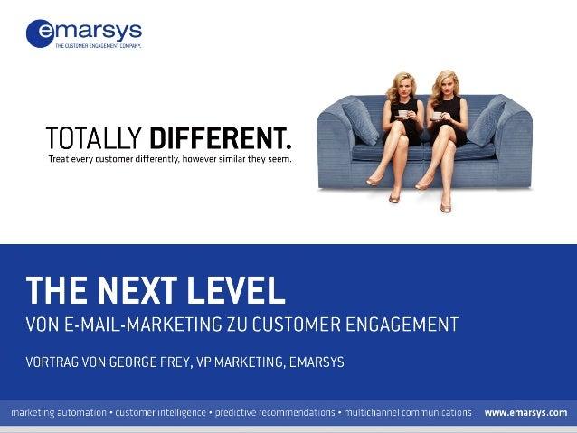 Emarsys bietet cloud-basierte digitale Marketinglösungen für eine Verbesserung des Customer Engagements & ROI. Was wir mac...
