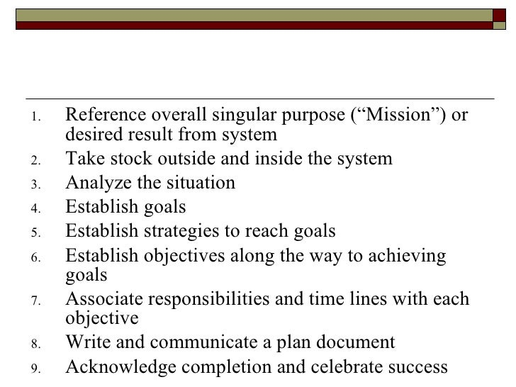basic guidelines for successful planning process Plan to ensure that an effective communication strategy is built into the  the project communication planning process: wbs product list — a list of potential.