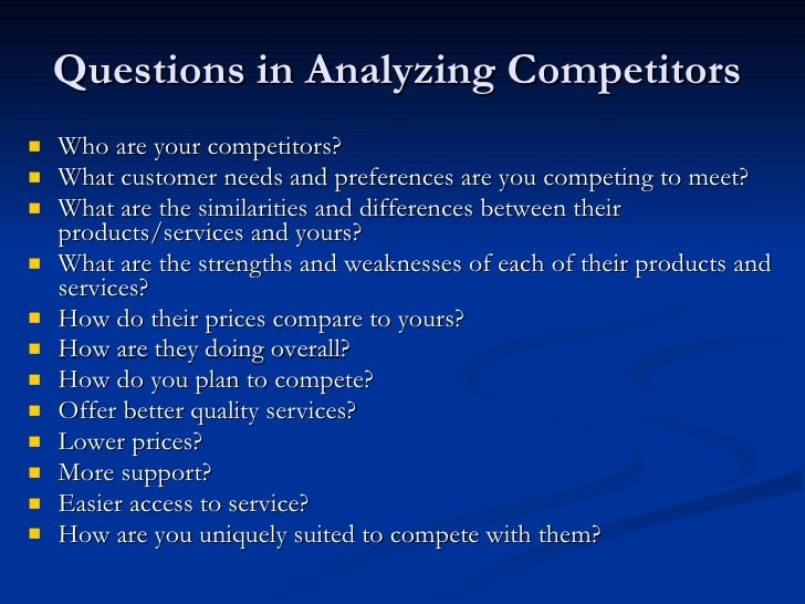 Competitive Analysis and a Brief Guide to Competitor Analysis