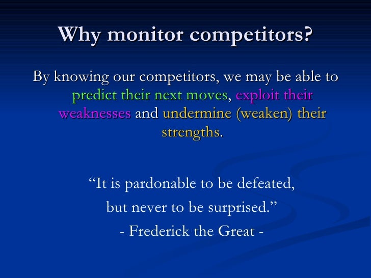 How to Conduct and Prepare a Competitive Analysis