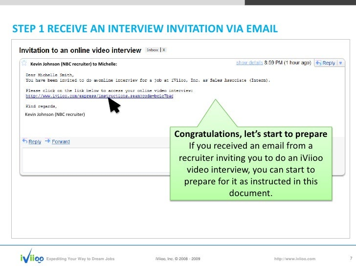 iviioo candidate video interview tutorial 7 728?cb=1237249443 iviioo candidate video interview tutorial,How To Reply For An Interview Invitation Email