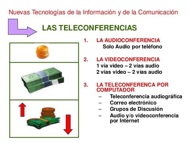 Nuevas Tecnologías de la Información y de la Comunicación           LAS TELECONFERENCIAS                         1.   LA A...