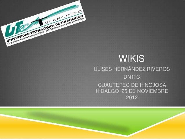 WIKISULISES HERNÁNDEZ RIVEROS         DN11C CUAUTEPEC DE HINOJOSAHIDALGO 25 DE NOVIEMBRE          2012