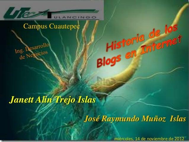 Campus CuautepecJanett Alin Trejo Islas                      José Raymundo Muñoz Islas                             miércol...