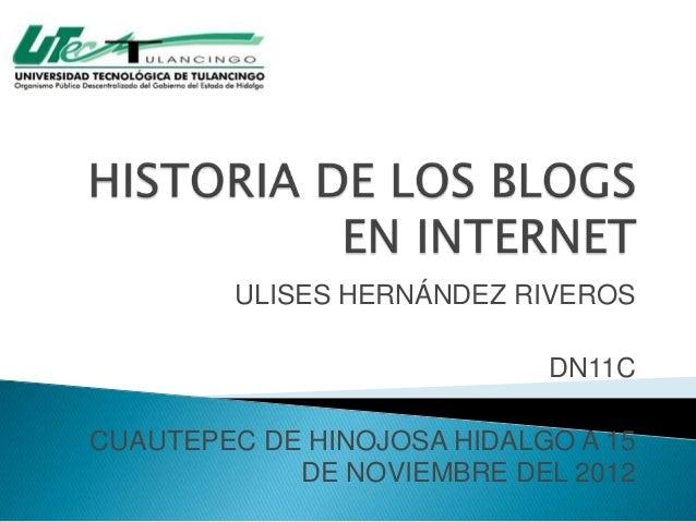 ULISES HERNÁNDEZ RIVEROS                            DN11CCUAUTEPEC DE HINOJOSA HIDALGO A 15            DE NOVIEMBRE DEL 2012