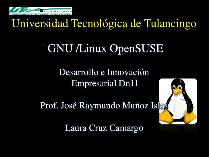 Universidad Tecnológica de Tulancingo       GNU /Linux OpenSUSE         Desarrollo e Innovación           Empresarial Dn11...