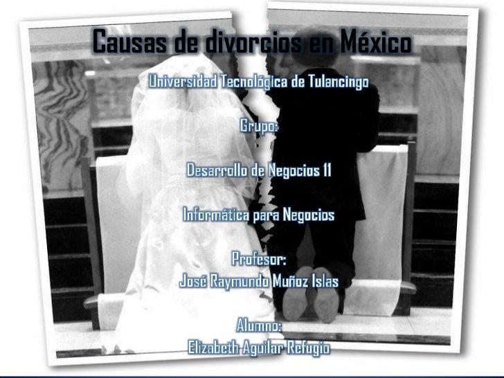 Causas de divorcios en México