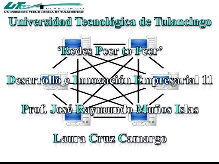 ¿Que es Peer to Peer?Una red Peer to Peer es una red de computadoras en laque todos o algunos aspectos funcionan con una s...