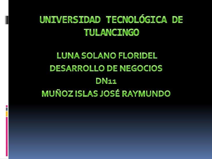 SISTEMA DE UNIVERSIDADES      TECNOLÓGICAS