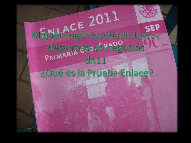 Miguel ángel Escobedo Juárez   desarrollo de negocios            dn11 ¿Qué es la Prueba Enlace?