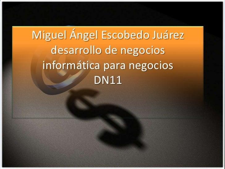 Miguel Ángel Escobedo Juárez   desarrollo de negocios informática para negocios           DN11