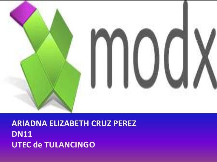 ARIADNA ELIZABETH CRUZ PEREZDN11UTEC de TULANCINGO