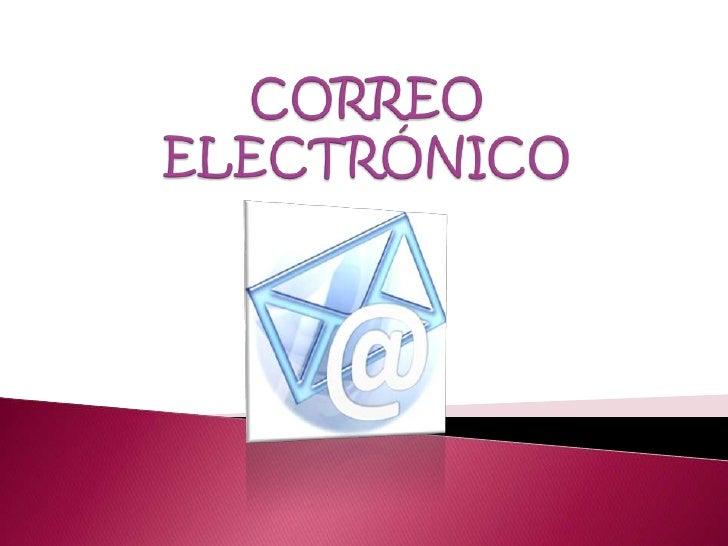 CORREO ELECTRÓNICO<br />