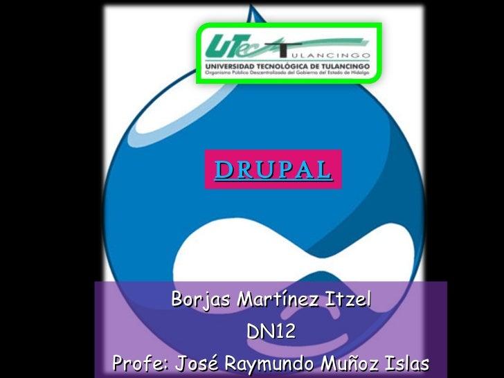 DRUPAL Borjas Martínez Itzel DN12 Profe: José Raymundo Muñoz Islas